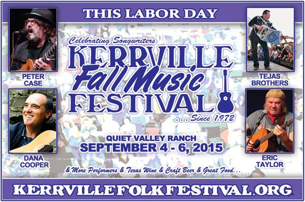 Kerrville Fall Music Festival Labor Day weekend announces lineup