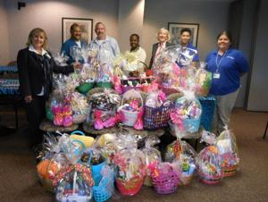 OakBend Medical Center delivers Easter baskets
