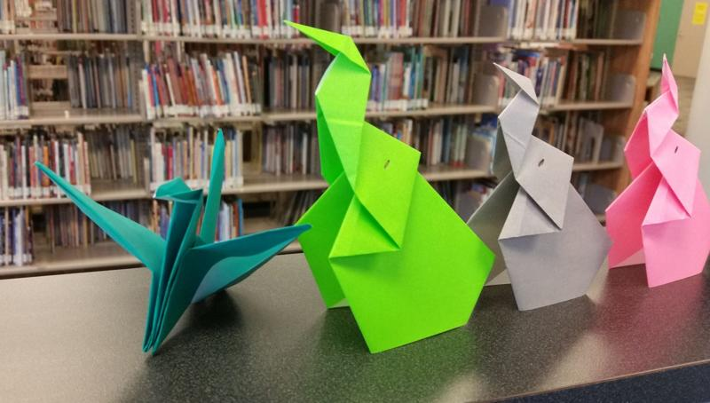 MAKE SWANS & ELEPHANTS AT LIBRARY'S JAPANESE ORIGAMI CLASS