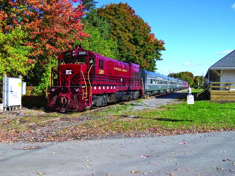 Local leaf peeping train trips