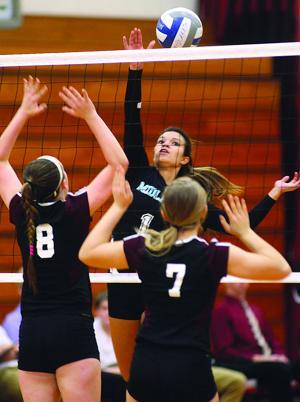 Midlakes vs. Byron-Bergen girls volleyball