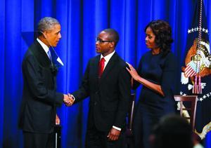 Obamas and Troy Simon