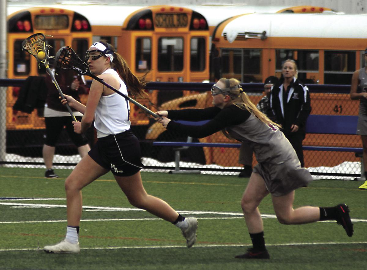 GIRLS LACROSSE: Shaffer nets 100th career goal as Blue Devils roll to win over Reds