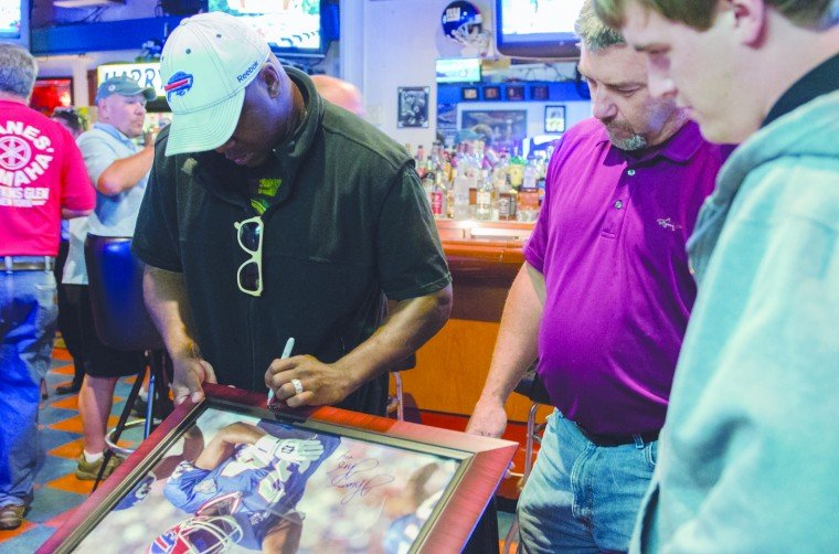 Thurman Thomas at Harry's Place