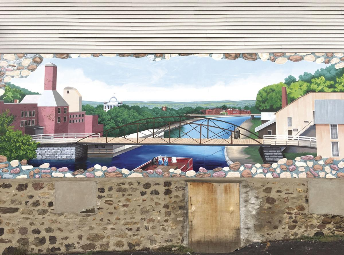 Lyons canal history comes alive in latest mural news for Canal fluminense mural