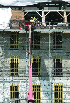 Work continues at future Women's Hall