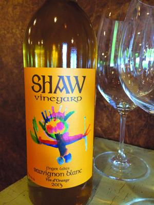 Shaw Vineyard's orange wine