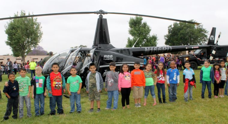maple elementary school students enjoy safety assembly