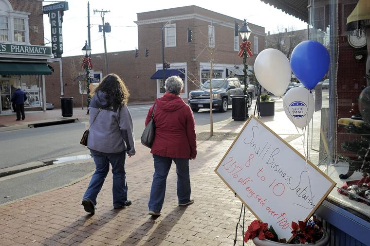 Shoppers visit local stores for small business saturday for 730 salon fredericksburg va