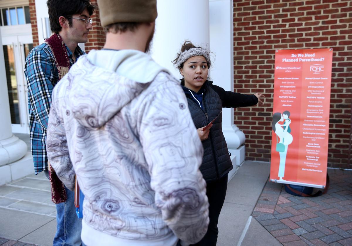 Anti-abortion organization holds demonstration at UMW