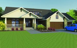 Craftsman features add style curb appeal to ranch for How to add curb appeal to a ranch style house