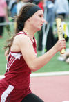 Courtney Wagner in 1,600 relay