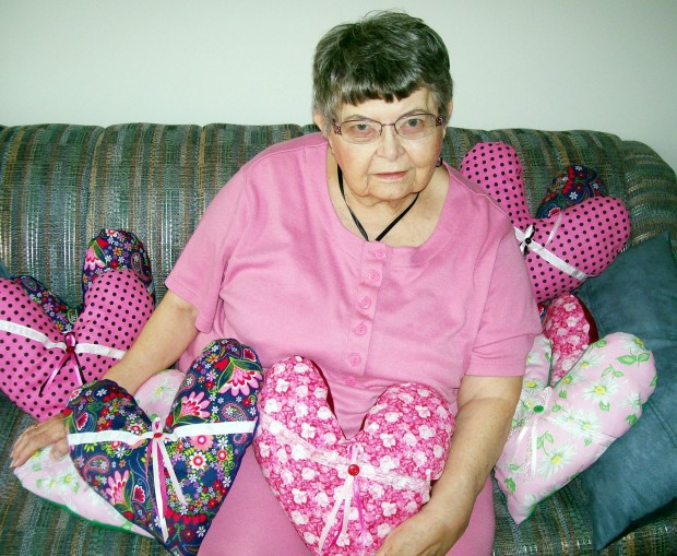 Nye Square resident makes pillows for cancer patients ...