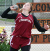 Becca Simpson in shot put