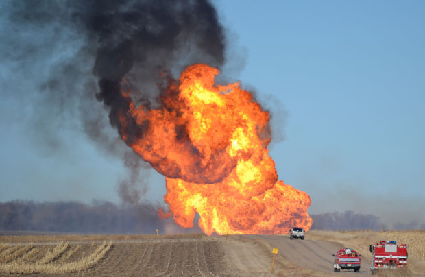Towering Inferno Natural Gas Pipeline Fire Forces Family