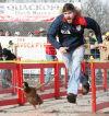 Drew Pfeil races in Avoca Quackoff