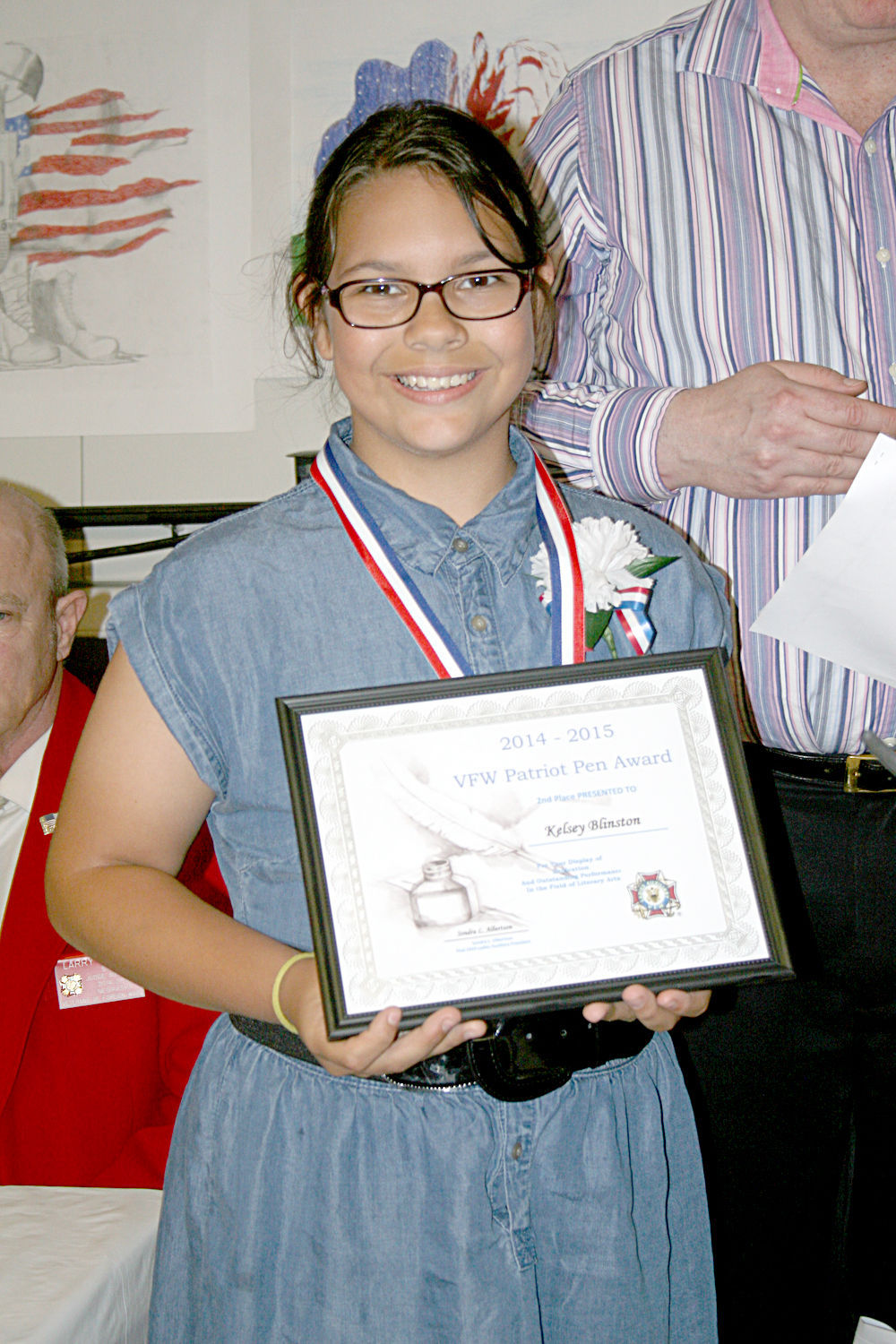patriot pen essay contest Shelburne community school eighth grader hannahjulia woodward has won a state essay competition and scholarship award from the veterans of foreign wars for an entry in the annual patriot's pen contest woodward, 13, submitted an entry to the vermont veterans for foreign wars post 782, howard plant post and it was recognized at several levels.