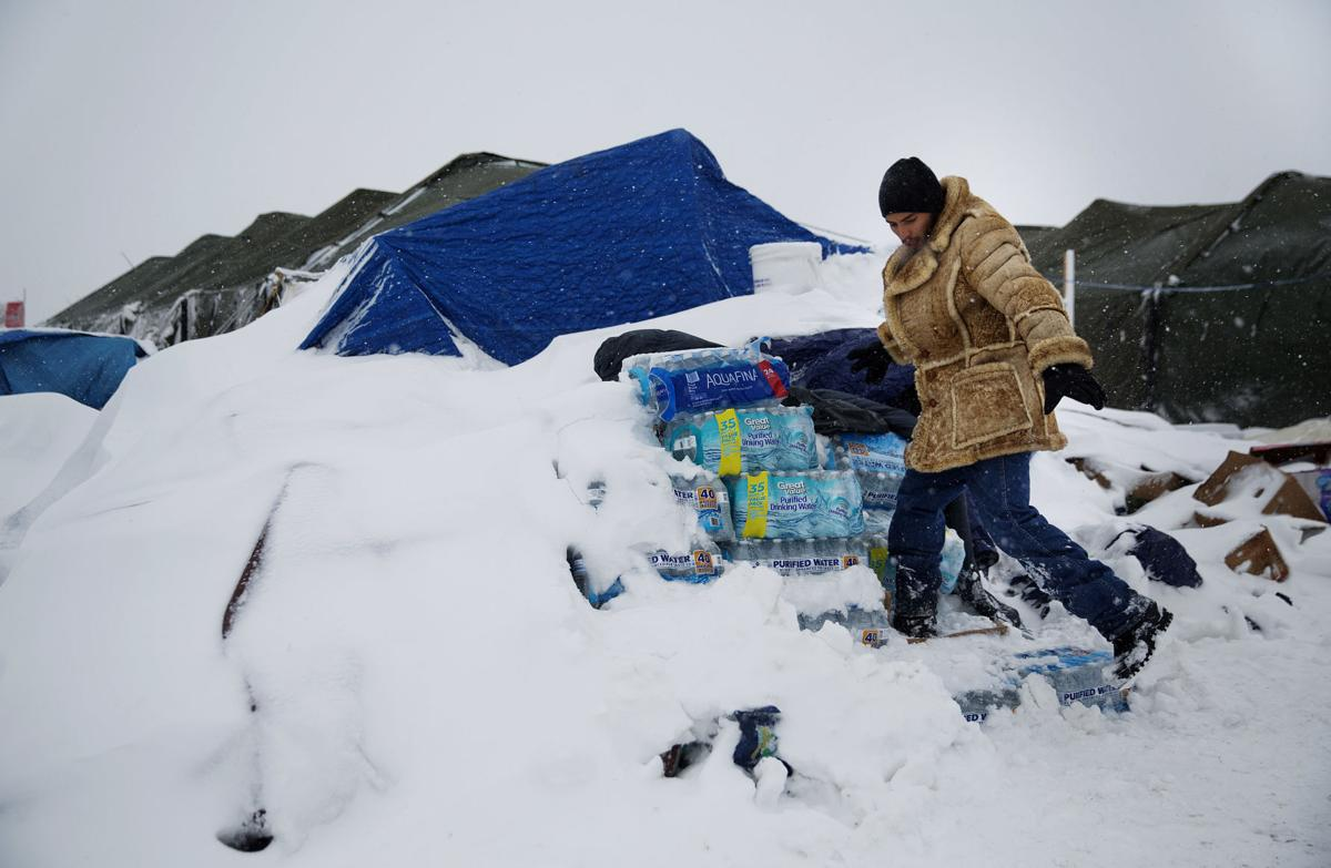 Photos: Protesters dig in for North Dakota winter ...