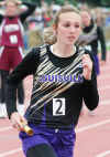 Olivia Heard in 1600 relay