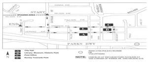 Wasilla parade route