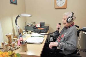 99-year-old Ham radio operator still tuned in