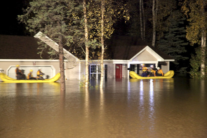 People, pets rescued from flash flooding