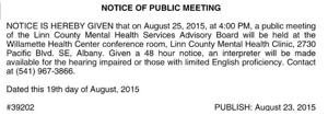 LINN COUNTY HEALTH SERVICES
