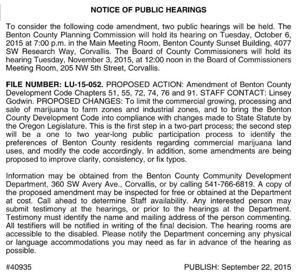 BENTON COUNTY PUBLIC WORKS