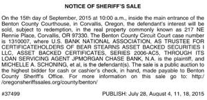 BENTON COUNTY SHERIFF/LEGAL
