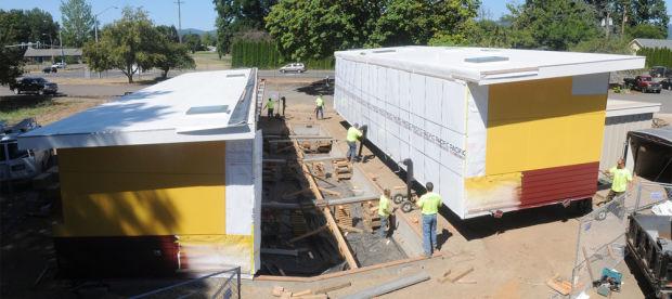 Sage Modular Classroom ~ Corvallis waldorf school gets new green modular classroom