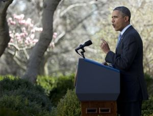 With 7 million enrolled, Obama exudes new confidence about health care law