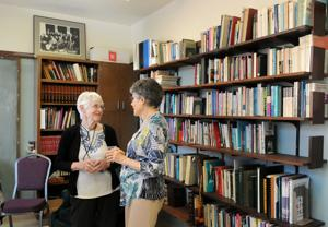 Church celebrates reopening of library