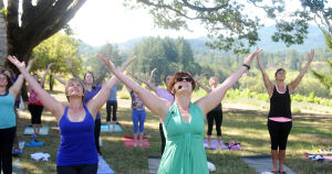 Yoga event at Lumos Winery helps conclude Bounty of Benton County