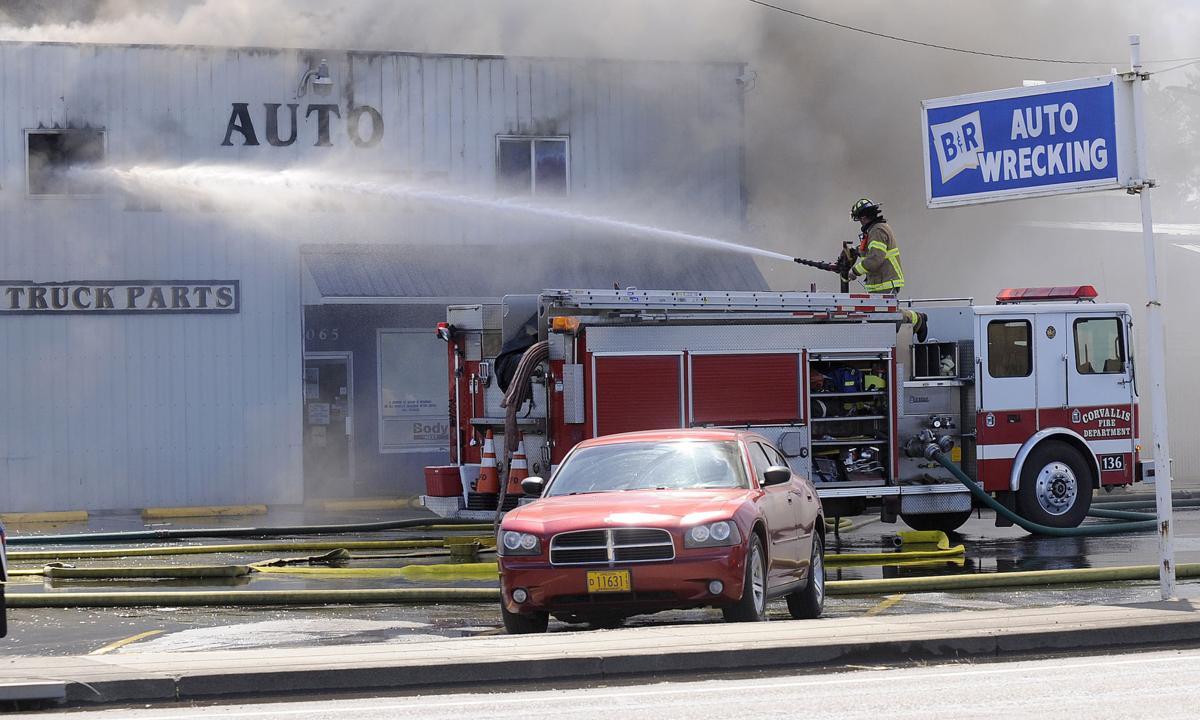 Fire Hits B R Auto Wrecking Local