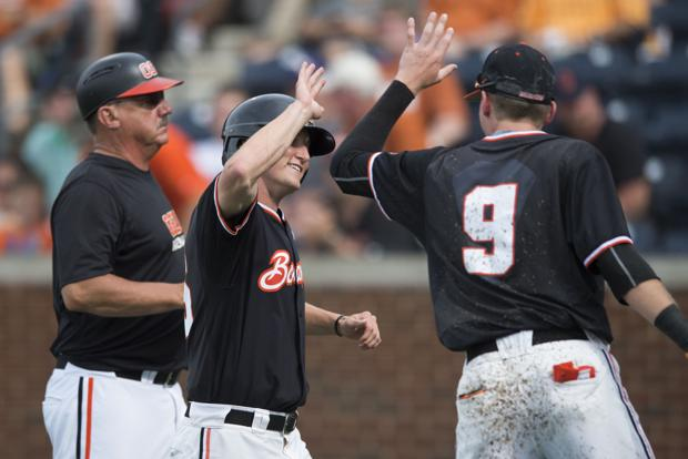 OSU baseball: Nobach's double powers Beavers past Texas in regional