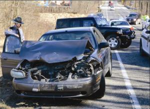 Driver flown from Route 30 wreck