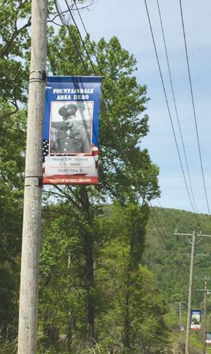 Banners venerate veterans