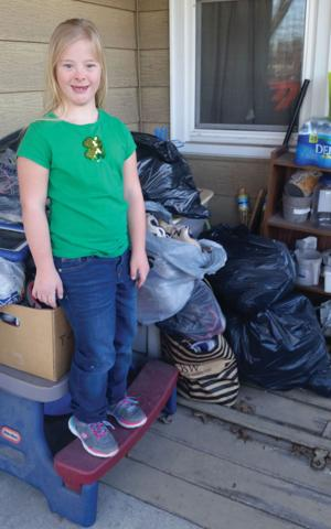 New Oxford girl raises funds through sneaker donations