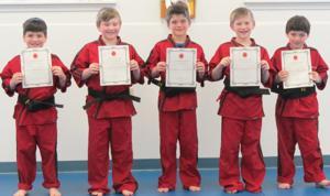 5 karate black belts for 5 brothers