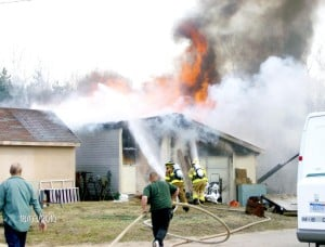 Fire claims building