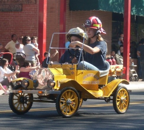 Fire parade antique car