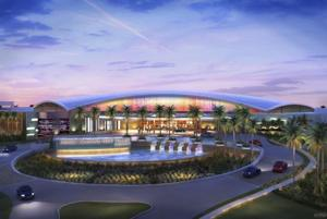 Revised casino front