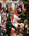 Hawks tackle Hoosiers to win 5th in a row