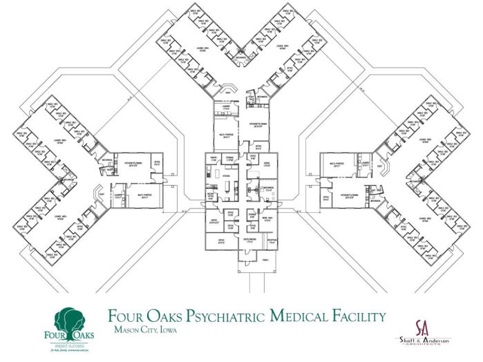 Four oaks plans new youth residential treatment facility for Floor plans health care facilities