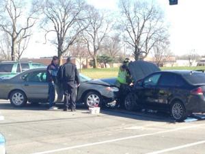 Crash blocks traffic near Mason City High School