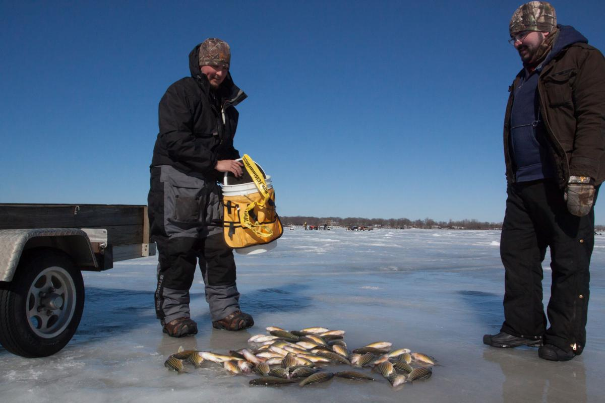 Photos yellow bass bonanza ice fishing tournament north for Ice fishing iowa