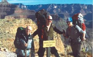 Three generations hike the Grand Canyon