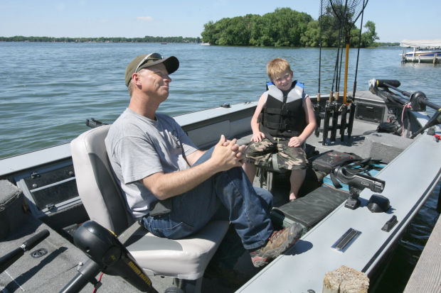 Fishing buddies clear lake boy and his dad plan to spend for Clear lake iowa fishing