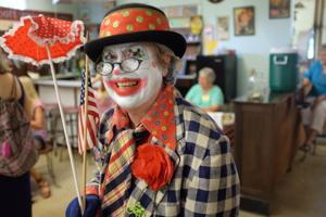 Still the clown: Positive attitude keeps car accident victim going