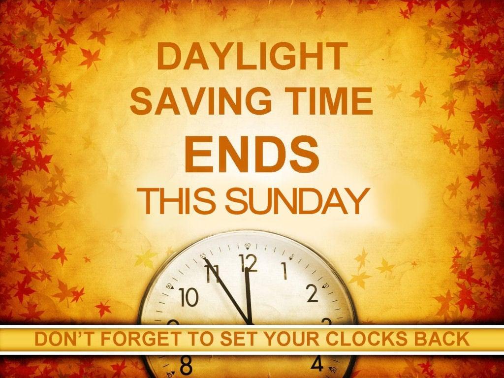Daylight savings dates